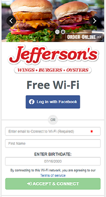 WiFi Landing Page Example 1