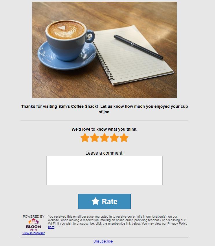 Ratings Feedback Loop Email